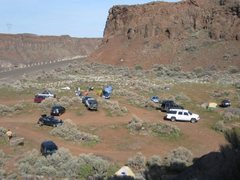 Rock Climbing Photo: Parking lot facing the North Wall of the Feathers....