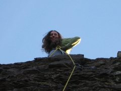 """Rock Climbing Photo: Checking out the view on """"Mandatory Suicide&q..."""