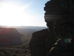 """Rock Climbing Photo: view from the top of """"Mandatory Suicide""""..."""