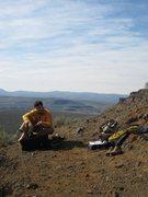Rock Climbing Photo: Resting near the Fat Man's Wall