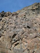 "Rock Climbing Photo: ""Tease Me Please"" (5.7) on the Fat Man's..."
