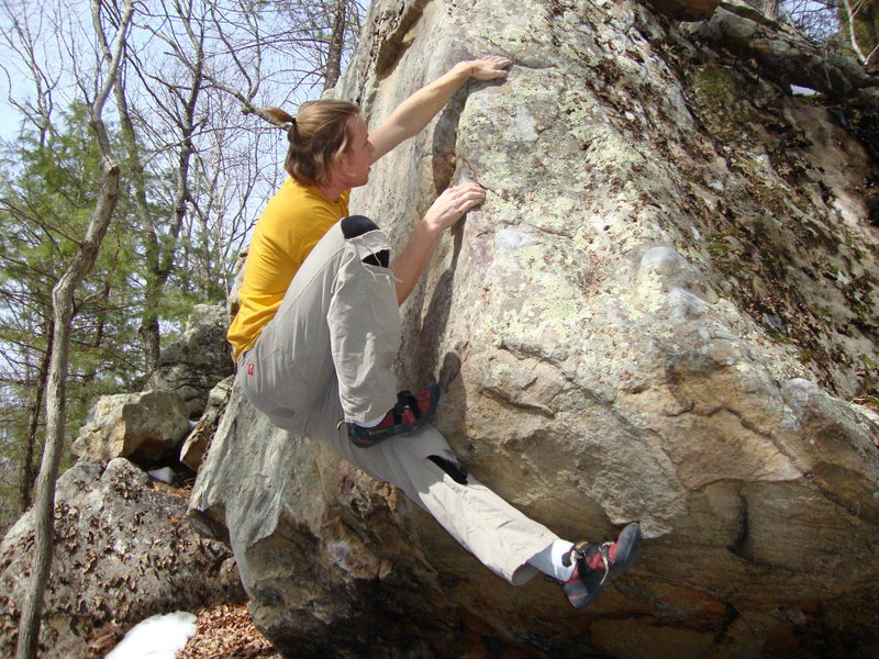 Rock Climbing Photo: the crux of this route