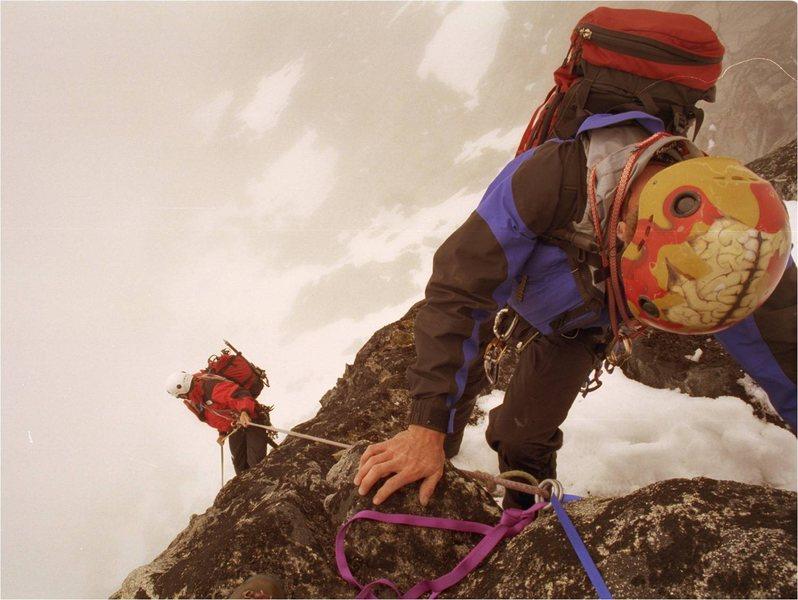 Rock Climbing Photo: Springer's Helmet on Devil's Thumb