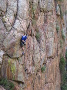 Rock Climbing Photo: Blue shirt.