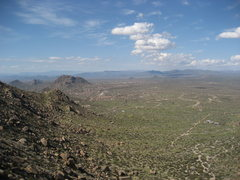 Rock Climbing Photo: View from the top of the 1st pitch on Hanging Gard...