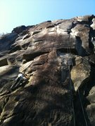 Rock Climbing Photo: Looking up the first pitch of Japanese Gardens.  T...