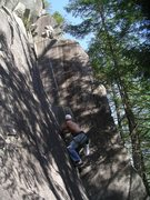 Rock Climbing Photo: Chris L. at the start of the second pitch of Aires...