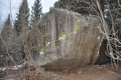 Rock Climbing Photo: Warm-up Boulder left of The Perch.