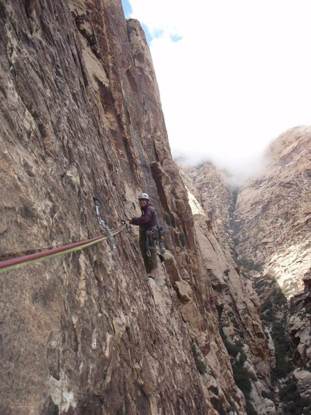 Rock Climbing Photo: The Traverse at the top of P3, Dream of Wild Turke...
