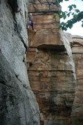 Rock Climbing Photo: Dave Morgan climbing his corner.