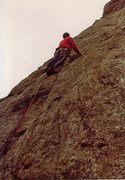 Rock Climbing Photo: Pitch 3 - My finest hour on Welsh rock, literally ...