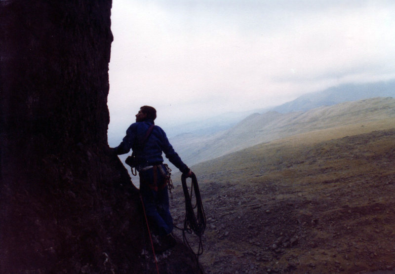 Rock Climbing Photo: Huh? What spike? Marc Chrysanthou wonders why he e...