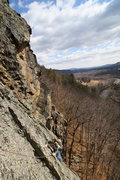 Rock Climbing Photo: Jakob enjoying charity case on a warm day in early...
