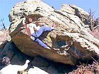 Gregg J. on Bacterial (photo taken from frontrangebouldering.com)
