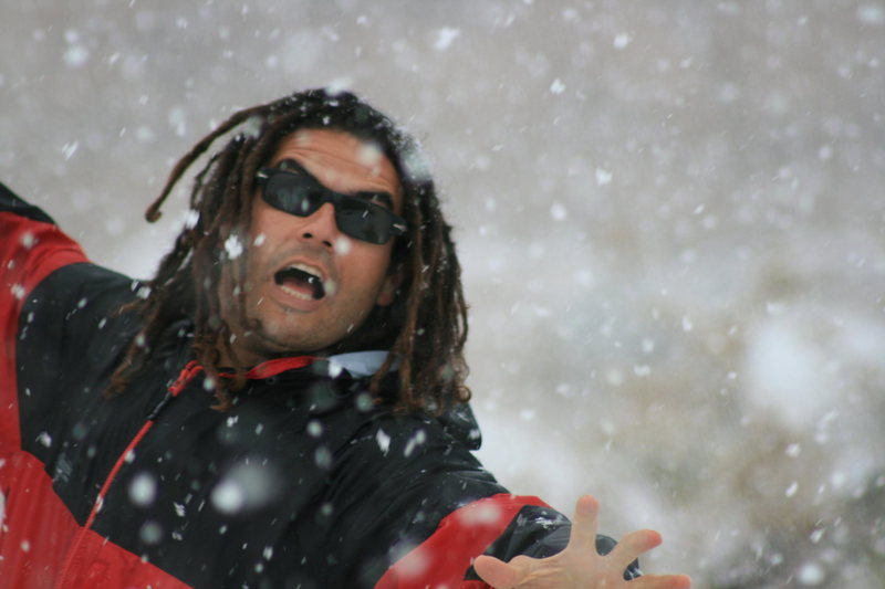 Rock Climbing Photo: RastaRaj enjoying the snow.  3-7-10