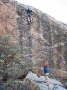 Rock Climbing Photo: The rusty trombone