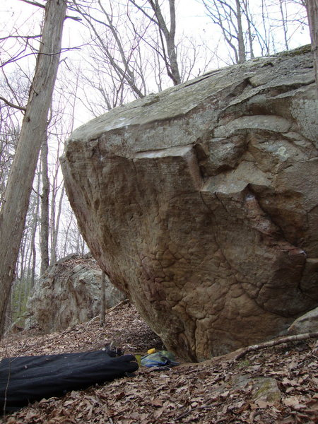 Rock Climbing Photo: short problem on the right of the boulder