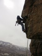 Rock Climbing Photo: @ the cool undercling.