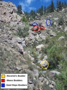 Rock Climbing Photo: The Blue ones in the pic.