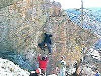 Rock Climbing Photo: Danilo Bo on Il Precario (photo taken from frontra...