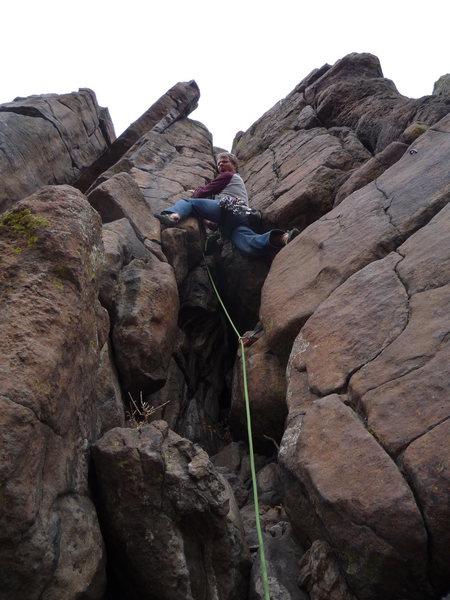 Rock Climbing Photo: Stemming the crust.