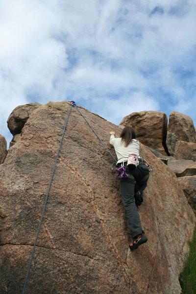 Rock Climbing Photo: Agina Sedler on Back Alley.
