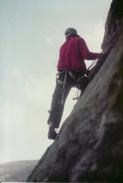 Rock Climbing Photo: Chris Owen on Pitch 1. First time I ever wore rock...