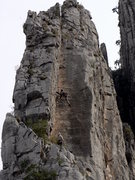 Rock Climbing Photo: Getting my stemming on. Dec. 23, 2007.