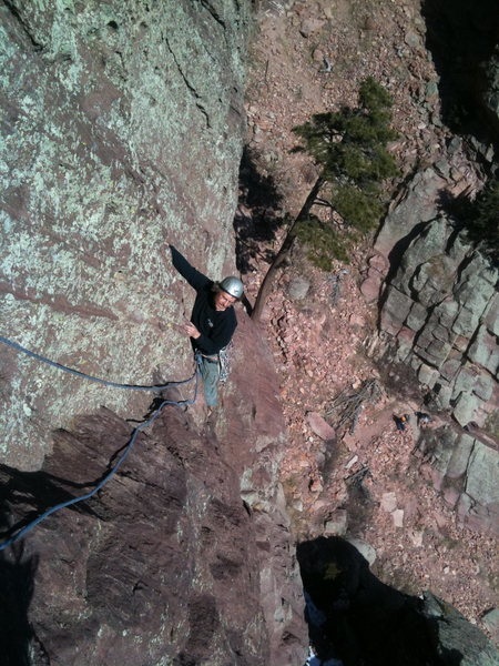 Dan Howell on the 2nd pitch traverse.