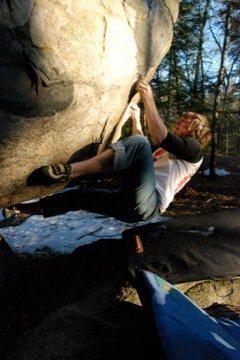 Rock Climbing Photo: Me going nowhere!