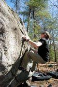 Rock Climbing Photo: Matt Hoffman going for it.