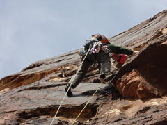 Rock Climbing Photo: Variation to pitch 4 (or 3)of Cat In A Hat.  Far l...
