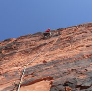 Rock Climbing Photo: Nearing the top of Sacred Undergarment Squeeze Job...