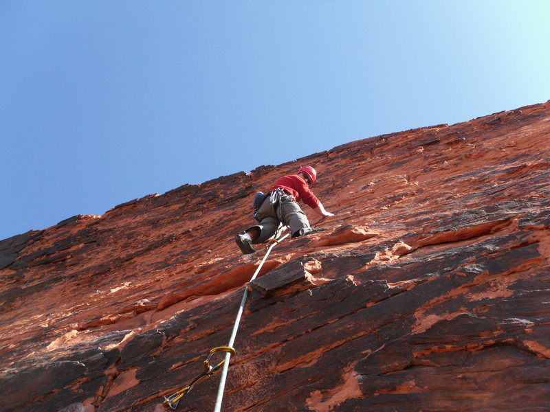 Rock Climbing Photo: At the 3rd bolt of Boxer Rebellion.  Opening moves...
