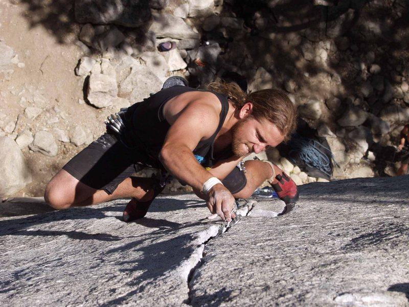 Rock Climbing Photo: placing gray TCU
