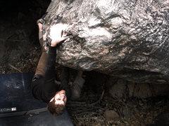 Rock Climbing Photo: Jason Baker rock humping his way to victory on &qu...