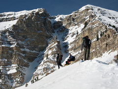 Rock Climbing Photo: Grunge Couloir Timp North Face