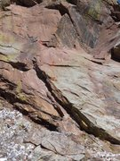 Rock Climbing Photo: Beta photo for the Trinity Cracks variation to Gen...