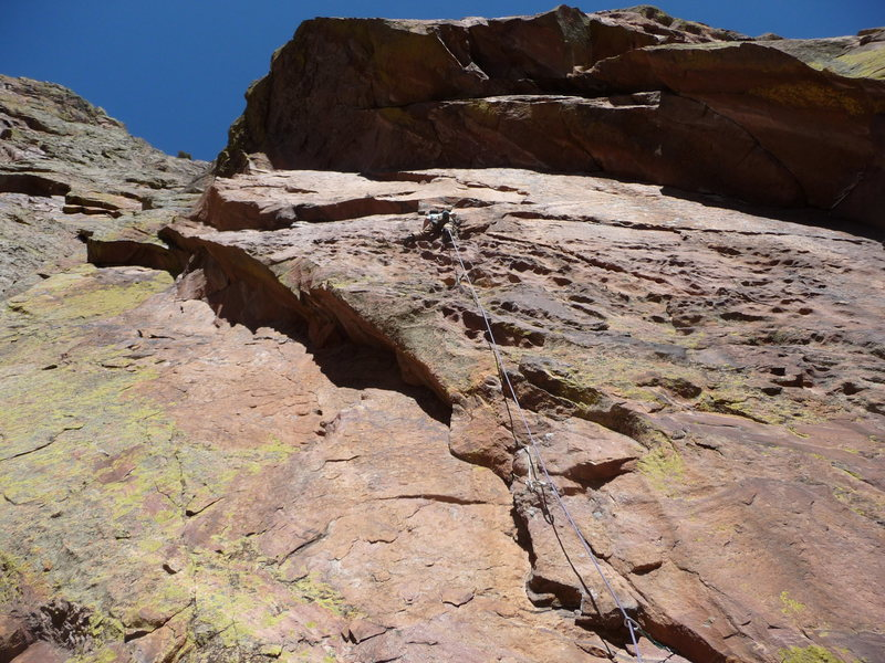 "Rock Climbing Photo: Josh in the scary section of ""The Serpent&quo..."