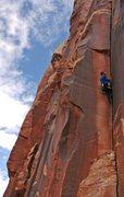 Rock Climbing Photo: Jeremy Freeman sinking thin hands on '3am Crack', ...