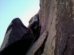 Rock Climbing Photo: 2nd picth of the bastile crack.