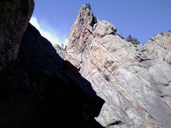 Rock Climbing Photo: a pic from the 3 picth of the bastile