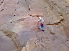 Rock Climbing Photo: matt on the first picth of the bastile