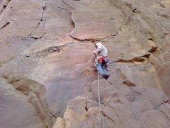 Rock Climbing Photo: matt on the first picth of the bastile