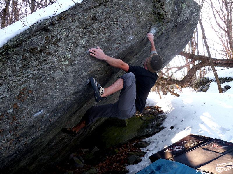 "Rock Climbing Photo: Aaron Parlier on the FA of ""Tech-Tonic"" ..."