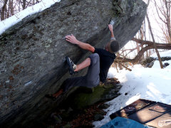 "Rock Climbing Photo: Aaron Parlier on the FA of ""Tech-Tonic"" ..."