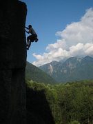 Rock Climbing Photo: Topping out on Natural Log Cabin (11+).