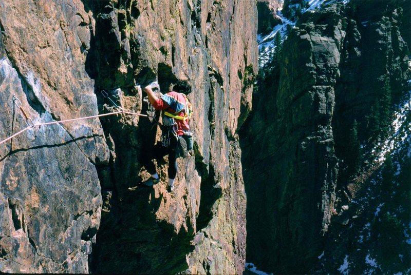 Rock Climbing Photo: Rock, Rosy Crucifixion.