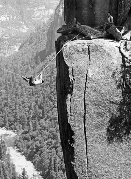 "Mary Ann ""Corkey"" Corthell tyrolean to Kat Pinnacle Mid 1950's - Bob Swift."