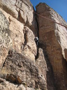 Rock Climbing Photo: Ascending the easy slab.